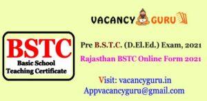 Rajasthan BSTC Online Form