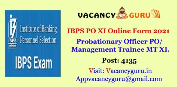 IBPS PO XI Online Form 2021